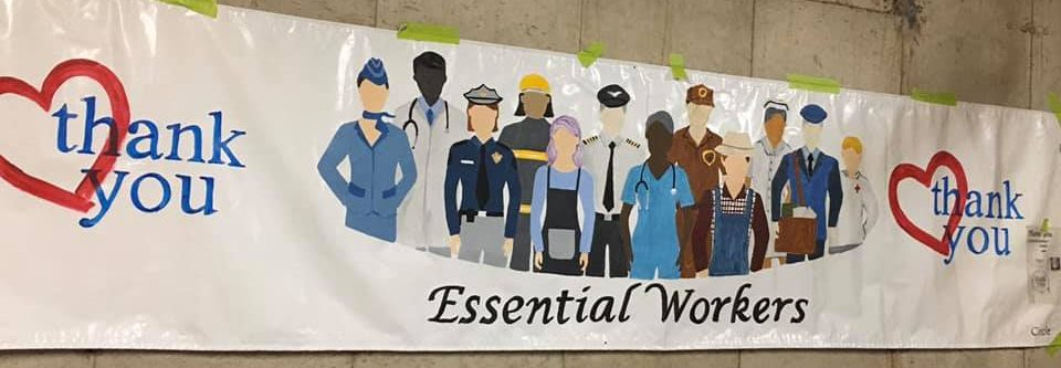 Thank you Essential Workers Artwork by Nancy Soneson - based on our graphic.