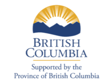 """British Columbia Logo: """"Supported by the Province of British Columbia"""""""